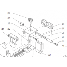 Side adjustment screw WC