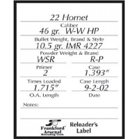 Frankford Arsenal Labels - 100 Pack